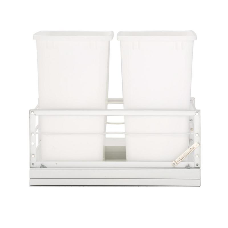 Rev-A-Shelf 5349-18DM-2 Double Trash Pull-Out 35 Qt., Bottom Mount, White :: Image 20