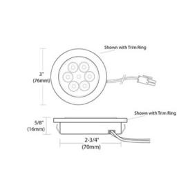 Tresco 5W Pockit Adapt LED Puck Light Line Drawing