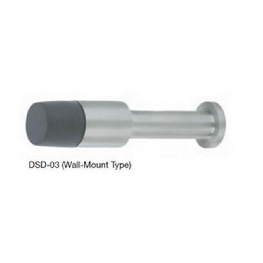 "Wall Mount Door Stop 2-9/16"" Long Satin Stainless Steel Sugatsune DSD-03/S"