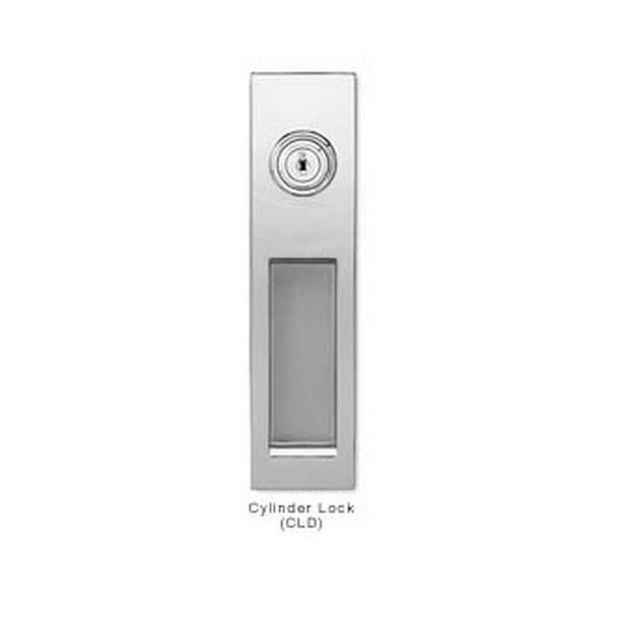Cylinder Lock Sliding Door Latch Handle Nickel Sugatsune HC-3051-CLD-NI