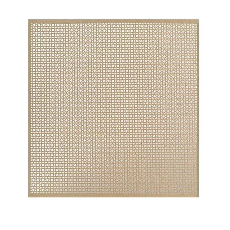 """Anodized Aluminum Panel  Lincane Pattern  24"""" W x 36"""" L Gold Macklanburg-Duncan 57125"""