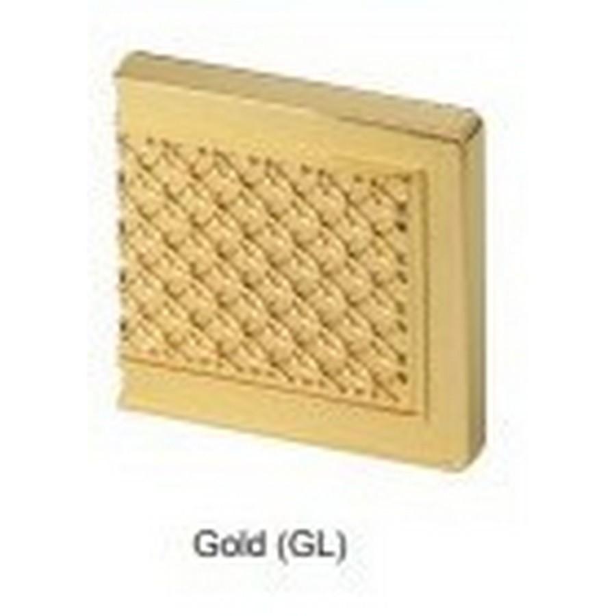 Glass Faceplate For J95 Hinge 24K Gold Sugatsune GH-J95FP-Q1-GL
