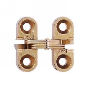 "SOSS #100, 1"" Mini Invisible Hinge, Dull Brass, 100CUS4"