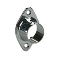 "Closed Wall Mount Flange 1-1/16"" Dia Chrome Knape and Vogt 734 CHR"