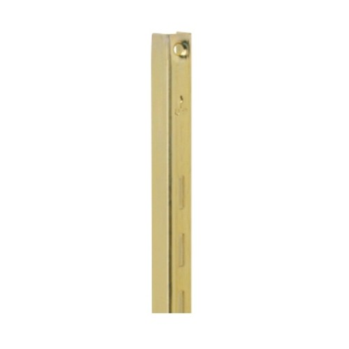 KV 80 BR 72, 72in 80 Series Single Slotted Shelf Standard, Brass, Knape and Vogt