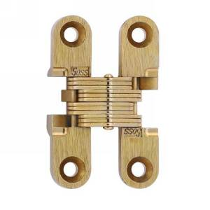 "SOSS #101, 1-11/16"" Invisible Hinge, Dull Brass, 101CUS4"