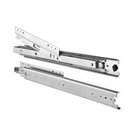 "KV 8805B 16 Bulk-4 Sets, 16"" 200lb Side Mount 1"" Overtravel Ball Bearing Drawer Slide, Zinc, Knape and Vogt"