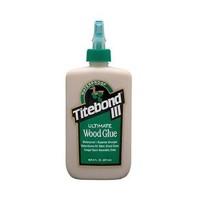 Franklin 1413, 8oz. Titebond III Ultimate Wood Glue, Waterproof, Tan Color, Dries Light Brown