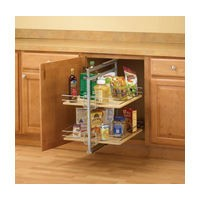 KV P1875CM-W, Pantry Pull-Out Frame, White, Baskets Center Mount, 3-13/16 W x 20-1/2 to 22-1/2 H x 22-1/4 D, Max Baskets: 2