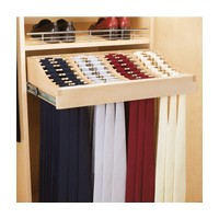 "24"" Pullout Tie Rack with Slides Natural Maple Rev-A-Shelf CWTR-2414-1"