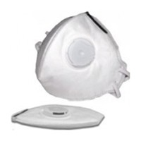 FastCap MXV-POCKET10PK Dust Mask, Folding, Extended Wear With Exhaust Valve, White