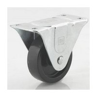 DH Casters C-GD30HRR, Plate Mount Swivel & Rigid Caster, Medium Duty, 3in, 220lb Capacity, Plate Size 2-1/2 x 4-7/8