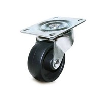 DH Casters C-GD30HRS, Plate Mount Swivel & Rigid Caster, Medium Duty, 3in, 220lb Capacity, Plate Size 3-1/8 x 4-1/16in
