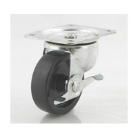 DH Casters C-GD40HRSB, Plate Mount Swivel & Rigid Caster, Medium Duty, 4in, 300lb Capacity, Plate Size 4 x 5-1/18in