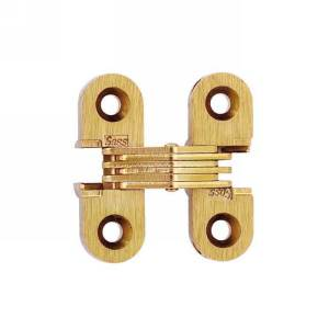 """SOSS #103, 1-1/2"""" Invisible Hinge, Dull Brass, 103CUS4"""