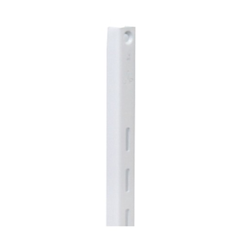 KV 80 WH 96, 96in 80 Series Single Slotted Shelf Standard, White, Knape and Vogt