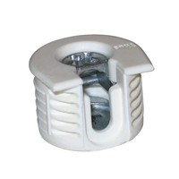 Titus 006383.877.001 Bulk-100 System 6 Fitting, 20mm dia, 15/16mm (5/8) Panel Thick, Drop-On, Non-Outrig, 12.5mm Drill Depth, Plastic (White) / Zinc