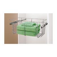 Rev-A-Shelf CB-241411CR-3, Pull-Out Wire Closet Basket, 24 W x 14 D x 11 H, Chrome