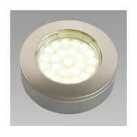 Hera 1.6W KB12-LED Series LED Puck Light, Cool White, Chorme, KBS12LEDCH/CW