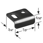 CompX Timberline SP-100-1 Timberline Lock Accessories, Strike Plate for Cam, Deadbolt or Wardrobe locks, Bright Nickel