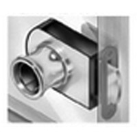 CompX Timberline CB-351 Timberline Lock, Glass Door Lock (1/4 - 5/16 Thick) Cylinder Body Only, Non-Bore Style, Horizontal Mount, Bright Nickel