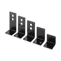 Fulterer FR1456.BL, 2.20in High Top and Bottom Epoxy Slide Brackets, Black