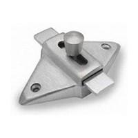 Jacknob 5023, Toilet Door Stainless Steel Latch for In-Swing & Out-Swing Doors, Stainless Steel