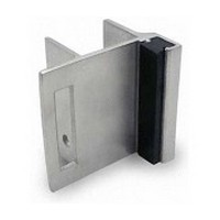 Jacknob 5113, Toilet Door Stainless Steel Strikes/Keepers for In-Swing Doors, Stainless Steel