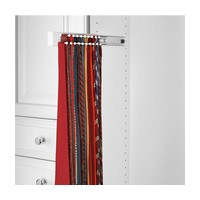 Rev-A-Shelf CWSTR-14W-1-10 Bulk-10, 14in Side Mount Wood Tie Rack, White
