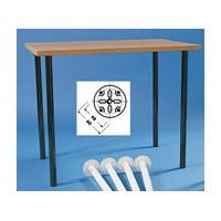 "Slim Table Leg Set 1-3/8"" Dia. x 27-3/4"" H Glossy Black Set of 4 Peter Meier 380-70-02"
