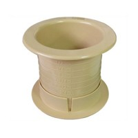 FastCap DUALLY 2.5 25PC HM Round Plastic 2-Piece, Dual Sided Grommet, Bore Hole: 2-1/2 dia., Hardrock Maple, 25-Pack