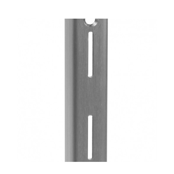KV 87 SS 72, 72in 87 Series Single Slotted Shelf Standard, Stainless Steel, Knape and Vogt