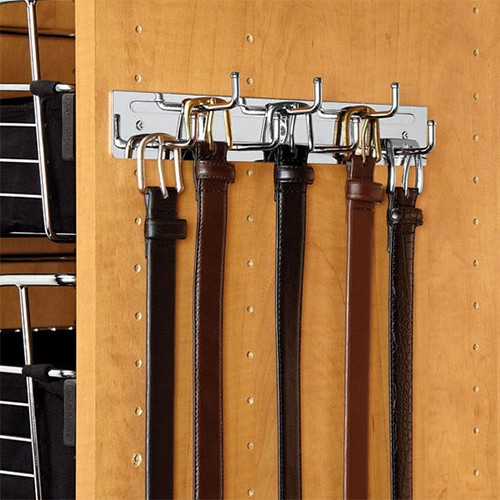 Rev-A-Shelf BRC-12NS-SN - 12in Wall Mounted Belt Rack