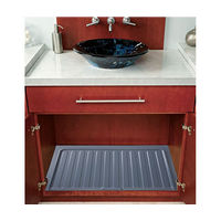 "Vanity Sink Base Drip Tray 22-1/2"" W Silver Bulk-12 Rev-A-Shelf SBVDT-2124-S-12 Bulk-12"