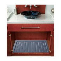 "Vanity Sink Base Drip Tray 34-1/2"" W Silver Bulk-12 Rev-A-Shelf SBVDT-3336-S-12"