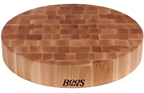 John Boos CCB183-R 18in dia. Cutting Board, Chopping Block Collection, Maple Series, Non-Reversible, 18in Dia. x 3in Thick