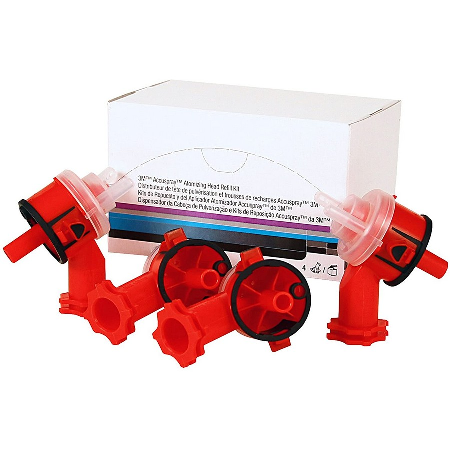 Accuspray Atomizing Head Refill Kit (4/Kit) Red 2.0mm Orifice Version 1.0 (Legacy) 3M 16609