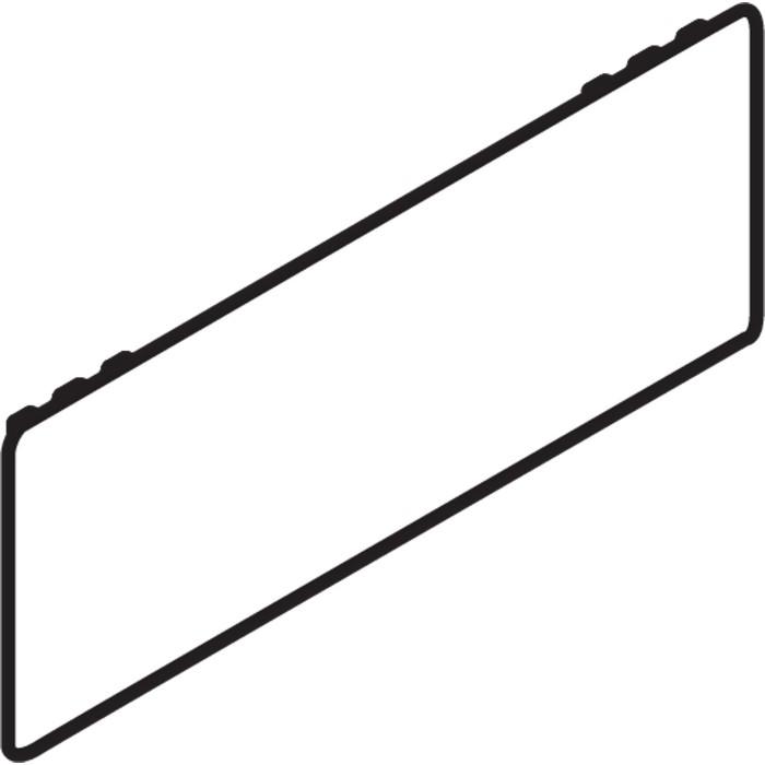 Blum ZA7.0700 LEGRABOX Blank Cover Caps, Orion Gray