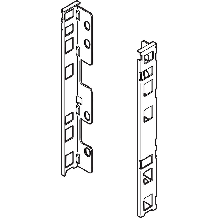 "Blum ZB7C000S LEGRABOX C Height (7"") Rear Fixing Bracket Set, Left Hand & Right Hand, Orion Gray"