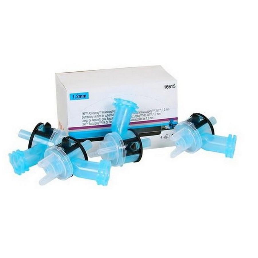 Accuspray Atomizing Head Refill Kit (4/Kit) Blue 1.2mm Orifice for Version 1.0 (Legacy) 3M 16615
