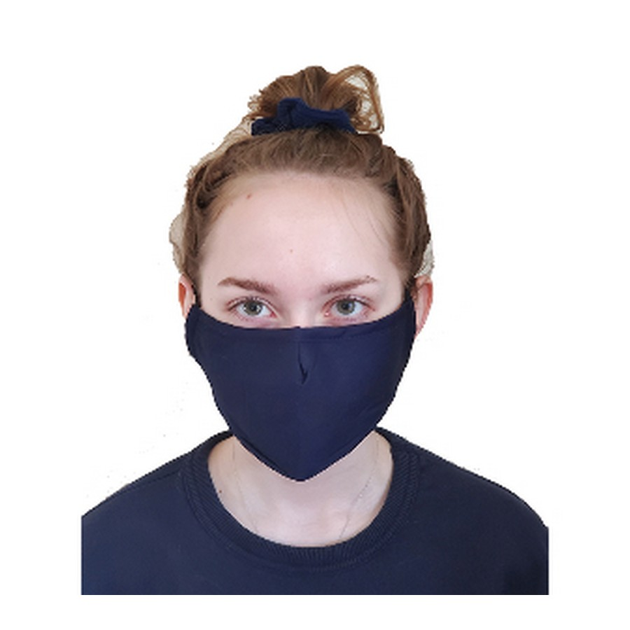 3 Layer Black Cotton Face Mask w/ Filter Pocket