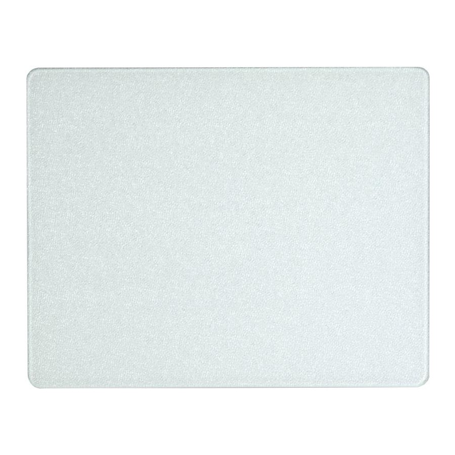 Vance 15120, 12in Portable Glass Cutting Board with (4) Non-Slip Rubber Feet, Vance Series, White, 12 W x 15 L