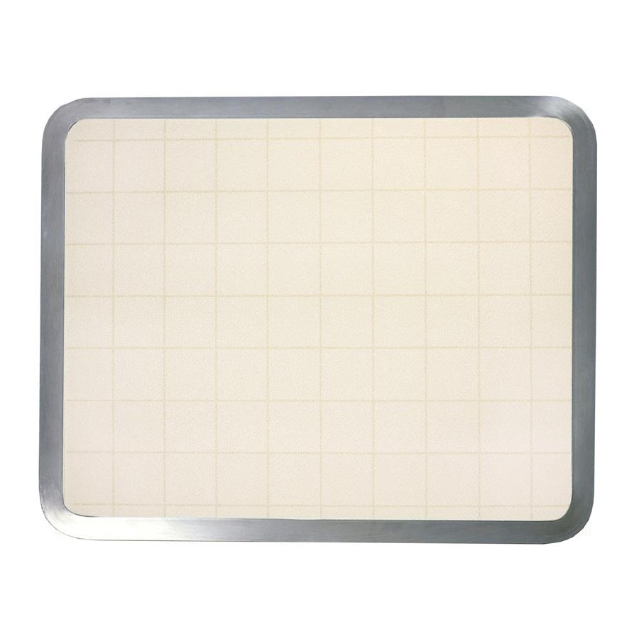 Vance 16205, 16in Recessed Glass Cutting Board, Vance Series, Almond Graphic, 16 W x 20 L