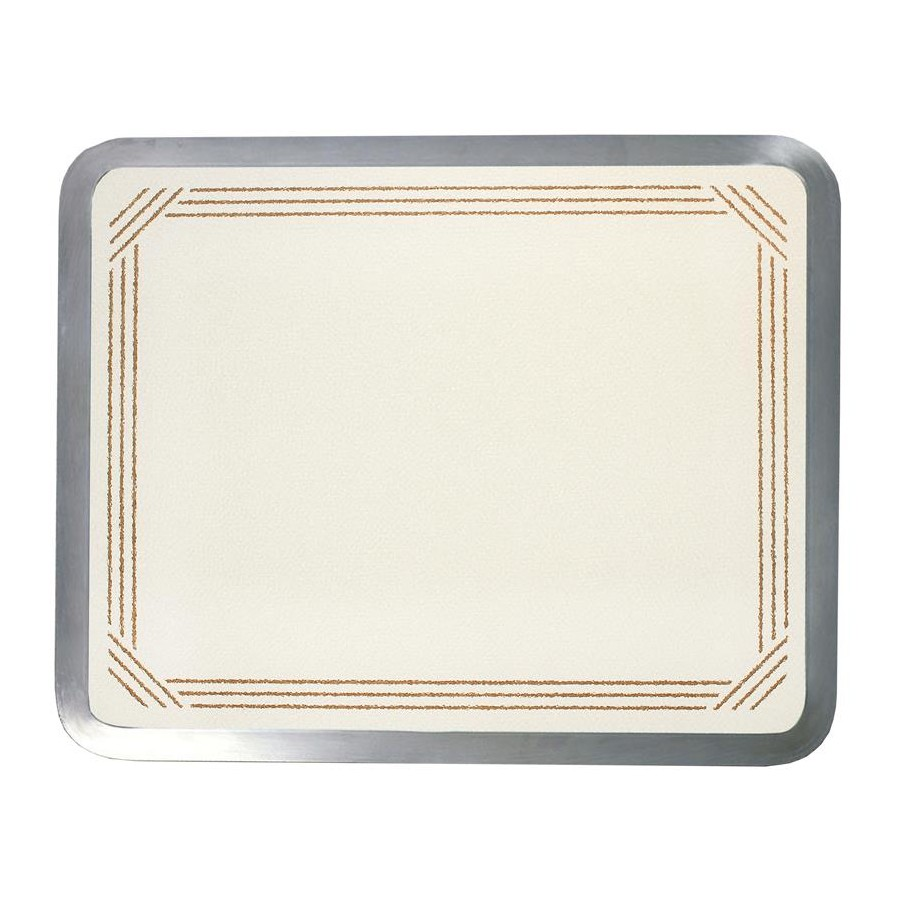 Vance 1620AB, 16in Recessed Glass Cutting Board, Vance Series, Almond with Brown Border, 16 W x 20 L