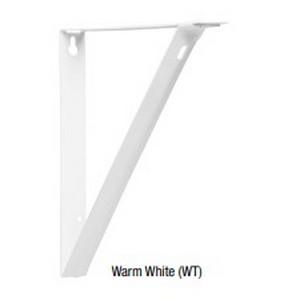 "Heavy Duty Shelf Bracket 12"" Warm White Knape and Vogt 1187BP WT 12"