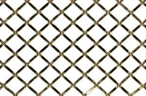 """Aluminum Wire Grill Flat Crimp Type 36"""" W x 48"""" L Satin Nickel Kent Design 1214F SN 36X48"""