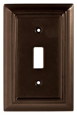 Liberty Hardware 126342, Single Switch Wall Plate, Espresso, Wood Architectural