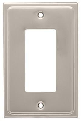 Liberty Hardware 126363, Single Decorator Wall Plate, Satin Nickel, Country Fair