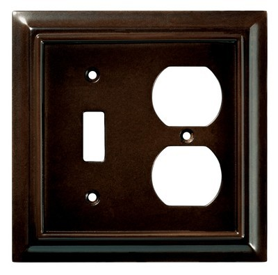 Liberty Hardware 126381, Single Switch/Duplex Wall Plate, Espresso, Wood Architectural