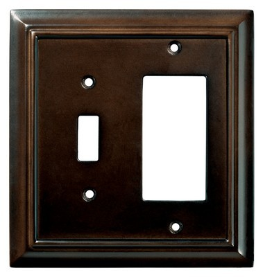 Liberty Hardware 126382, Single Switch/Decorator Wall Plate, Espresso, Wood Architectural